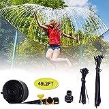 Longra Trampolin Sprinkler Wasserschlauch für Kinder Sommer Outdoor Garten Wasserpark Toys Accessories for Attaching to Trampoline (15m)