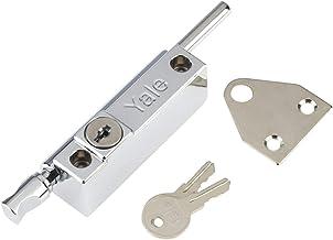 Yale P-124-CH Deur Pushbolt, Chrome Afwerking, Standaard Veiligheid, Visi Packed, geschikt voor aluminium deuren en houten...