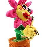 向日葵 おもちゃ おもちゃ クリスマスプレゼント 誕生日 プレゼント 綺麗な歌とセクシーなダンス 可愛い笑顔ヒマワリ 電気ぬいぐるみ 音の出るおもちゃ 可愛い おもちゃ 面白いおもちゃ (サックス, 60曲) (ピンク- 2)