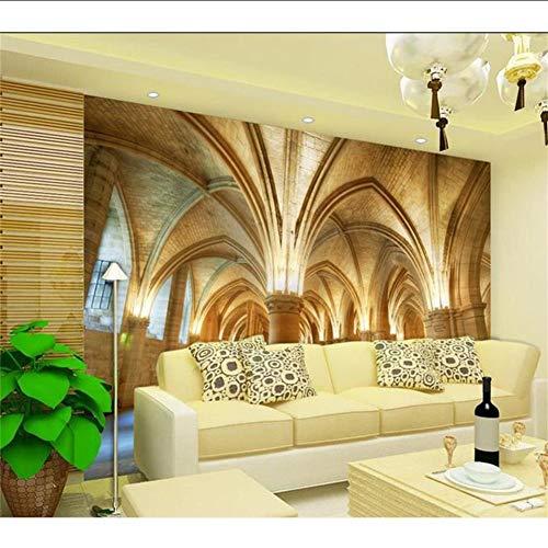Wuyyii 3D Personalizzato Foto Wallpaper Murale Soggiorno Camera Da Letto 3D Chiesa Cupola Zenith Pittura Divano Tv Sfondo Muro Niet Tessuto Adesivo 280x200cm