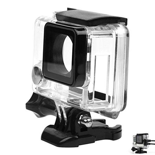 SHOOT Carcasa de Cámara Deportiva Cable Conectable Fundas No Impermeable para GoPro 3+/4 Black Silver Cámara de Acción