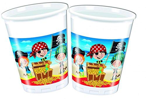 Kleine Piraten Kunststoffbecher 200 ml