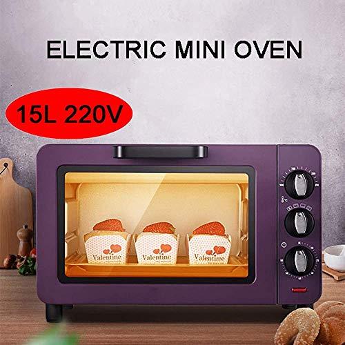 YZHM 220V 1200W fornetto, 15L elettrico domestico multifunzione cottura Roasters Torte, posizione cottura in TRE strati, il controllo preciso Della temperatura e Programmata, il Viola,Lilla