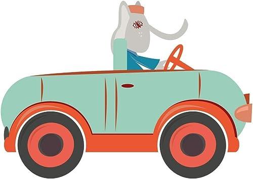 garantizado Adhesivo decorativo para coche, Diseño de elefantes, Color Color Color azul para Niño., 100 x 71 cm  ofrecemos varias marcas famosas