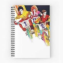 Nicole Cinema Kidman Bandits 80S Film Art Movie 1983 Bmx Eighties Cuaderno espiral lindo de cinco estrellas de la escuela con impresión duradera