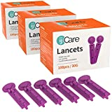 ijCare 30g Lancets for Blood Testing (300pcs) – Fits Any Standard Lancet Devices, and Diabetic Lancing Device in Our Blood Sugar Test Kit, Affordable Diabetic Supplies/Finger Pricker (3)
