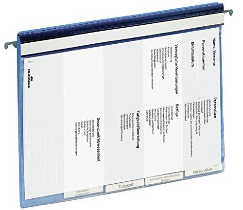 Durable 255406 Personalhefter (mit Deckblatt und Taben, 5 Unterteilungen, inkl. Hängeschiene) 1 Stück blau