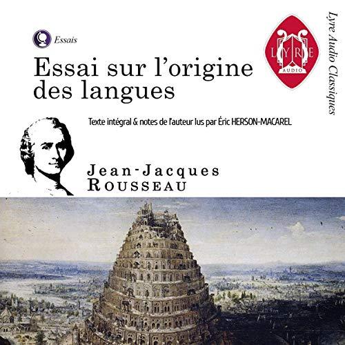 Essai sur l'origine des langues cover art
