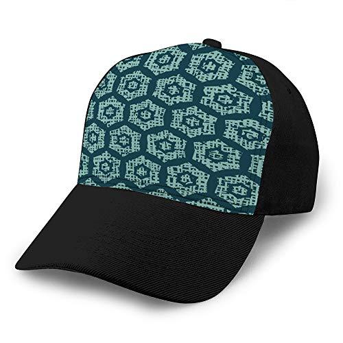 hyg03j4 1 Gorra Ajustable Gorra de béisbol de Fondo Plano Navidad geométrica Hexagonal Rejilla de Patrones sin Fisuras Gorra Simple