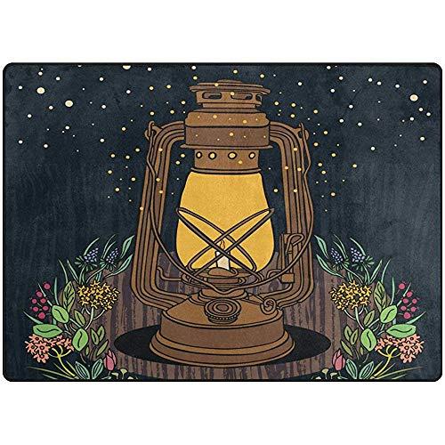 SESILY Tappeto Morbido per tappeti da Pavimento Vintage per Zona Notte Vintage con Lampada a Sospensione per Camera da Letto