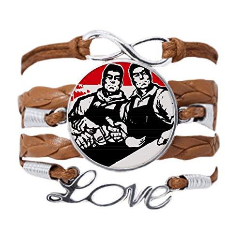 DIYthinker - Pulsera de cadena de amor, diseño de llave inglesa