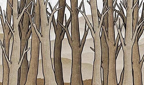 Papel Pintado Pared Papel Dormitorio Salon Decoración de Paredes Árboles De Maderas Abstractas Fotomural 3D Papel Tapiz Custom Mural Pared 150x105cm