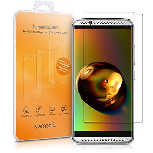 kwmobile Folie kompatibel mit ZTE Axon 7 Mini - Glas Handy Schutzfolie - Full Screen Bildschirm Schutz (Kleiner als das Bildschirm)
