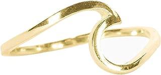 Pura Vida Womens Gold Wave Ring, Gold, 8