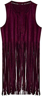 Lazzboy Women's Blouse Fashion Autumn And Winter Before National Wind Sleeveless Tassel Vest Cardigan Vest