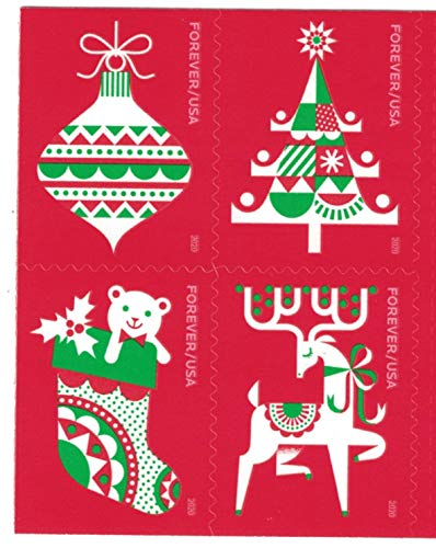 USPS Forever Stamps Holiday Delights - Book of 20 Postage Stamps