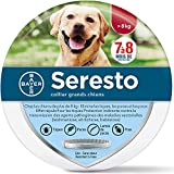 Collare Antiparassitario per Cani di Grandi Dimensioni,8 Mesi di Protezione pulci e zecche Collare Cane- Oltre 18 lb Cani