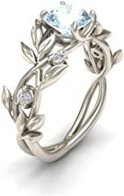 iLH® Clearance Rings,ZYooh Women Floral Transparent Diamond Flower Vine Leaf Rings Engagement Wedding Rings Jewelry Gift (Silver, 7)