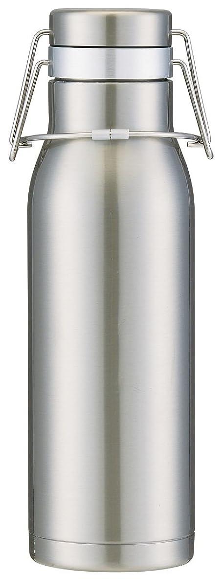 完全に乾く歴史楽観的スケーター 超軽量 保冷専用 スイングロック式 水筒 ステンレスボトル 1L シルバー SSW10