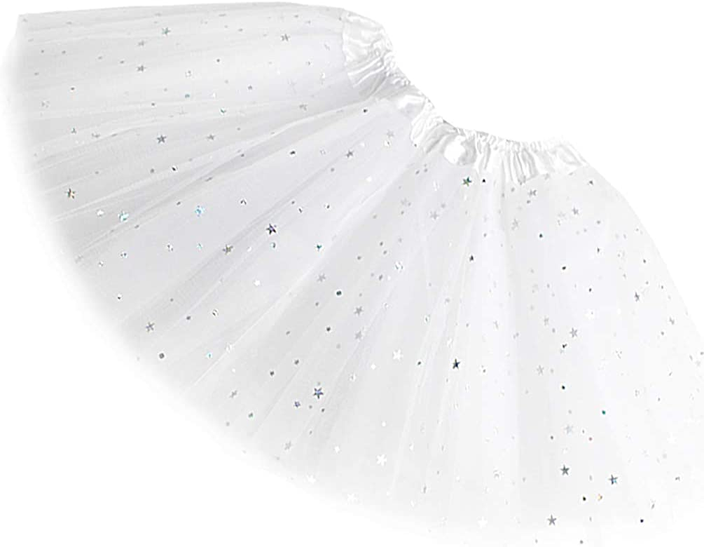 Rysly Girls Sparkle Tutus Max 84% OFF Princess Ballet OFFicial Tu Dance Tulle Layered