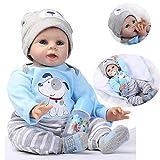 HRYEOY Handgemachtes Lebensechte 22 Zoll 55 cm Puppe Reborn Baby Kleinkind Silikon Vinyl Magnetisch...
