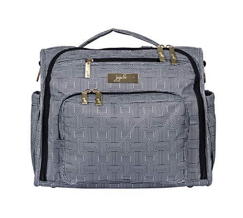JuJuBe BFF Diaper Backpack, Multi-Functional Convertible + Messenger Bag | Travel-Friendly, Stylish Diaper Bag | Geo