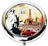 Señoras de la torre Eiffel inspirado lupa tocador Make Up Bolsa de bolsillo espejos Marrón Estilo 6 Talla única