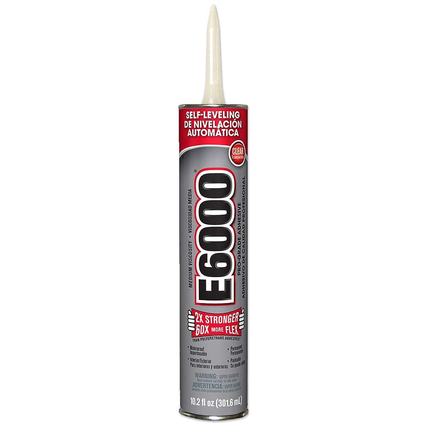 E6000 232021 Medium Viscosity Cartridge, 10.2-Ounce, Clear