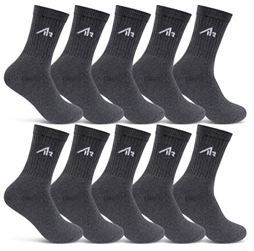 10 Paar i1R SPORT Socken Tennissocken Herren Damen Sportsocken mit Frotteesohle (Anthrazit 43-46)