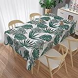 XXDD Mantel Verde con Estampado de Flores, Cubierta Impermeable para Mesa, Comedor, café, Mantel Individual, decoración de Fiesta, A6, 140x180cm