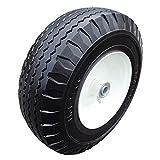 2-Pack 4.10/3.50-6' Flat-Free Tire, Hand Truck Tire on Wheel, 3' Centered Hub 5/8' Ball Bearings