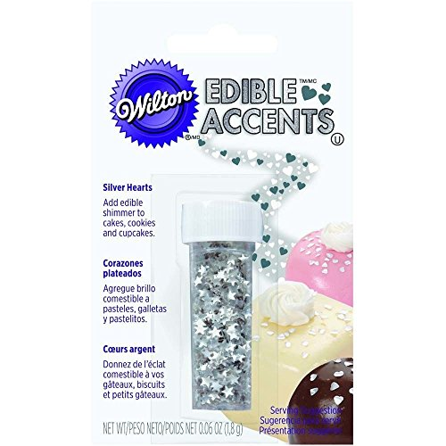 Silver Stars Edible Glitter by Wilton