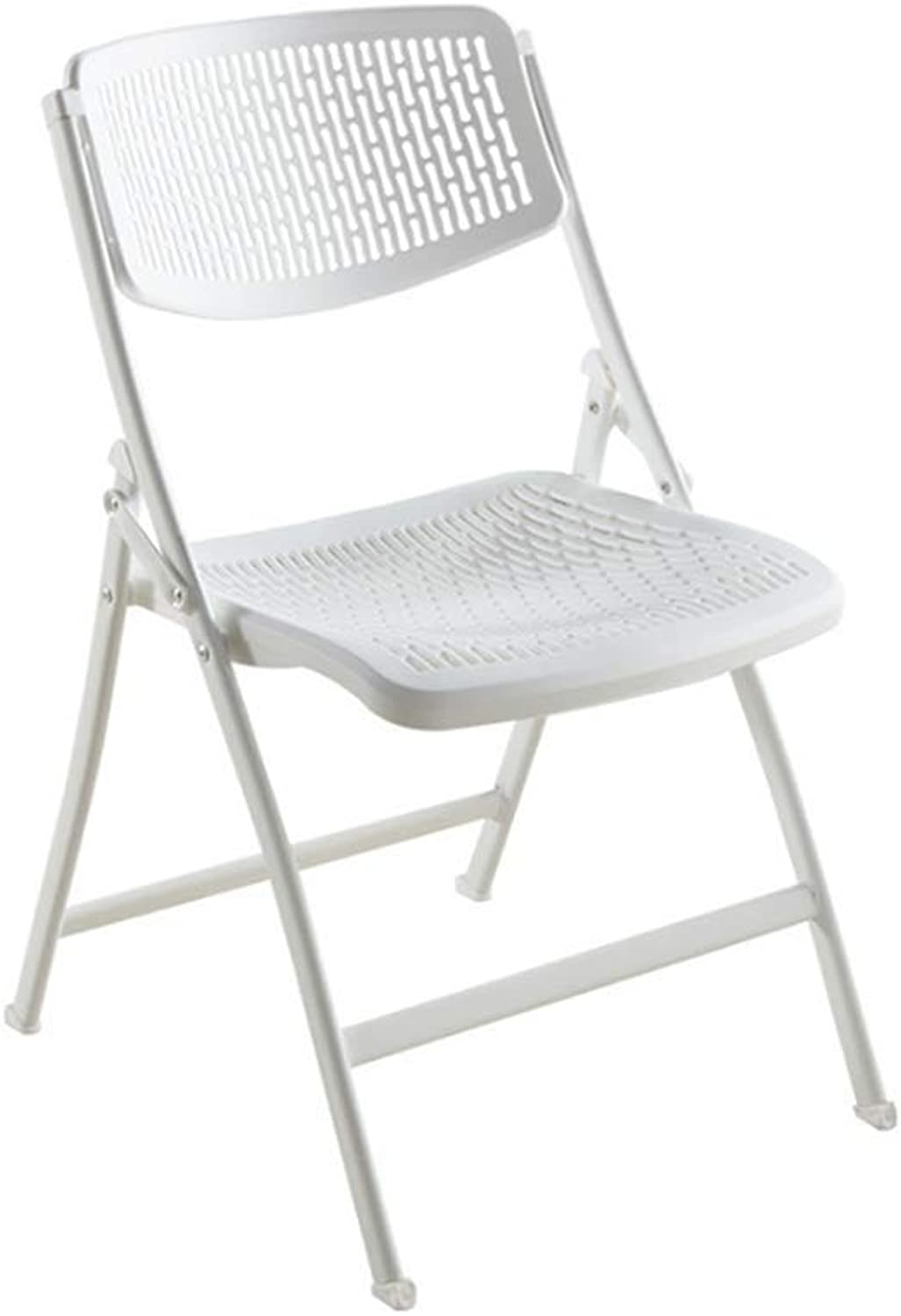 YCSD Thickened Folding Chair Plastic Portable Chair Modern Minimalist Office Chair Training Chair (color   White)