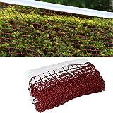 KUNHEHO Badminton Net with Steel Cable Ropes for Outdoor Indoor Sports Badminton Replacement Net for Backyard Schoolyard Beach Garden Ground (20FT x 2.5FT)