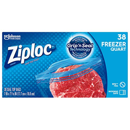 freezer quart ziploc - 4
