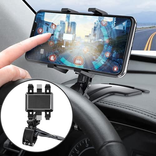 Supporto Cellulare Auto 360 Gradi di Rotazione Porta Cellulare da Auto GPS Navigazione Regolabile Porta Cellulare per Protezione al 100% in Silicone per Tutti Gli Smartphone Come iPhone Samsung ecc