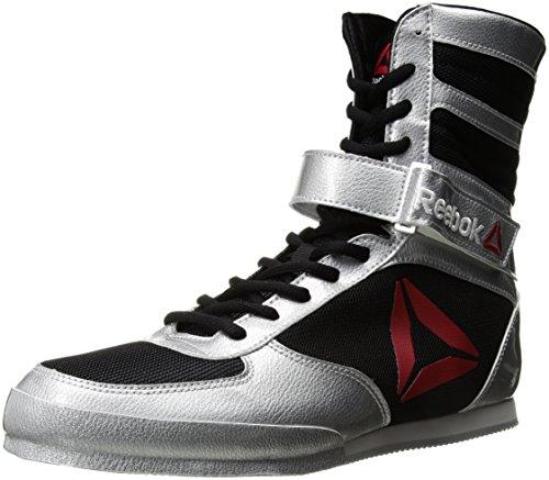 Reebok Men's Boot Boxing Shoe, Buck - Delta - Black/Black/White, 10 M US