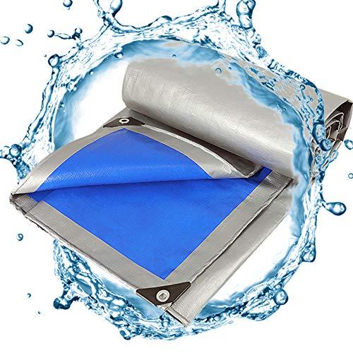 Allyine Cubierta de Lona Impermeable, Lona de Exterior Protección, 160g/㎡ Resistente al Agua y a los Rayos UV Lonas para Piscinas/Exterior/Techado/Construcción,5x8m/16x26ft