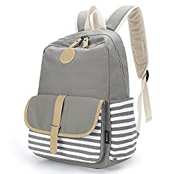 professional Improved Canvas School Backpack Casual Laptop Bag Lightweight Travel Backpack for Girls