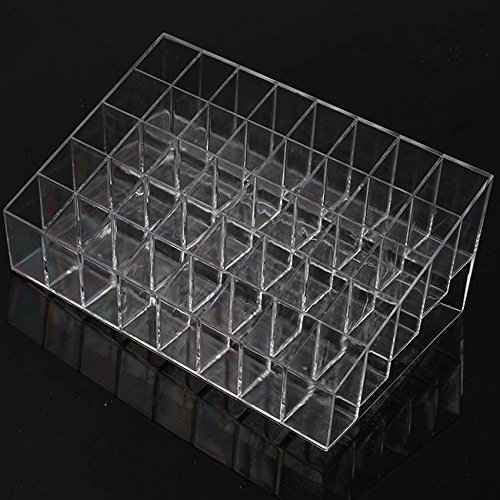 Kelvin Clear Acrylic 40 Lipstick Holder Stand Display Cosmetic Makeup Organizer Case