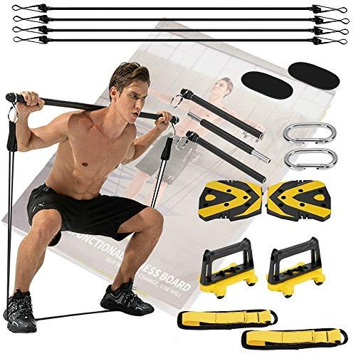 Gimnasios en casa Un gimnasio portátil para equipo en casa - Gimnasio completo accesorios Fitness y ejercicio Musculación
