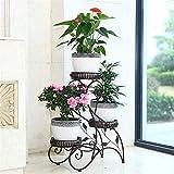 Soporte para plantas moderno y minimalista con 3 niveles para plantas de metal,...
