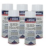 5 x Spraydose Heizkörper Lackspray weiß glänzend 400ml Alkydharzlack