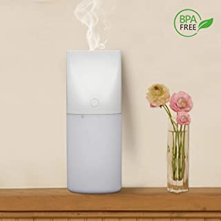 Portable USB Mini Humidifier, 320ml Cool Mist Humidifier Desktop Car Air Humidifier Diffuser with Night Light, 8 Hours Auto Shut-Off Safe for Home, Car, Office and Baby Bedroom