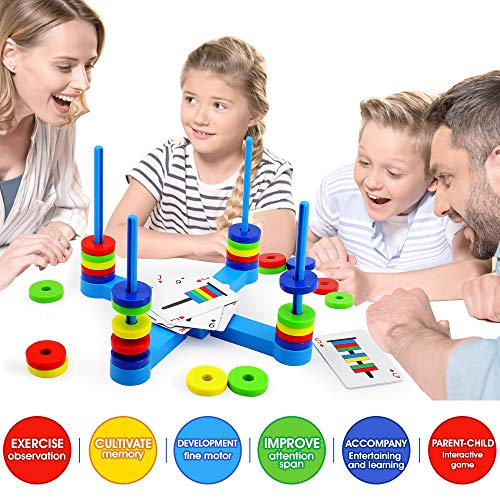 VATOS Board Magnetic Kids Game, Matching Game for Kids Age 3 4 5 6 7 8, Fun STEM Science Toy for Children Boys & Girls Gift