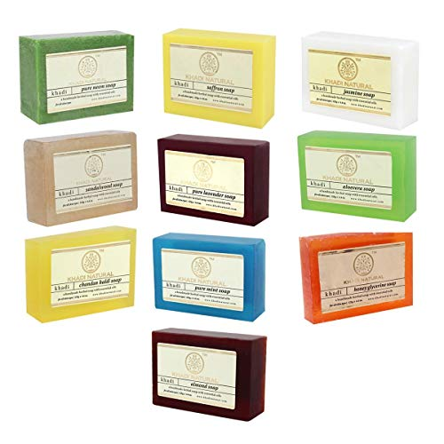 Khadi Natural Soap Combo Assorted Natural Soap Gift Set, 125 g (Pack of 10)