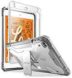 iPad Mini 5 Rugged Case with Kickstand, Poetic Full-Body Shockproof Protective Cover, Built-in-Screen Protector, Revolution, for Apple iPad Mini 5 7.9 Inch (2019) and iPad Mini 4 (2015), White