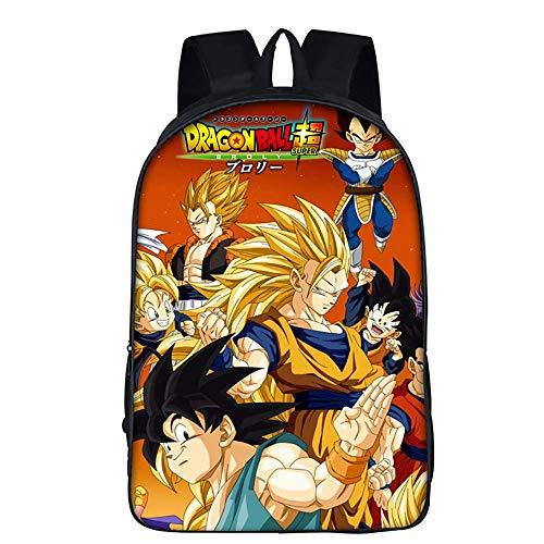 Rucksack für die Schule 3D Dragon Ball Muster Büchertasche Reisebranche Laptoptasche für Jungs und Mädchen,B