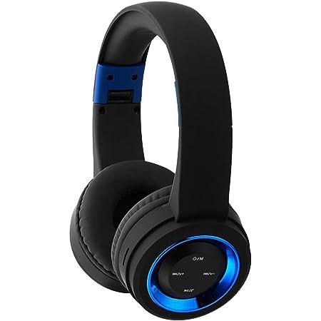 Uonlytech TR905 Sport Wireless Bluetooth Headphone Noise Cancelling Bluetooth Headphone V4.1 Over Ear Headset with Microphone (Black Blue)