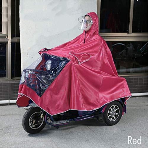 ZXL Regenjas, waterdicht, grote regencap, mantel, mobility scooter, motorfiets, regenjas, poncho, regenkleding, volledige bescherming met vizier regenpak XXXL regenkleding